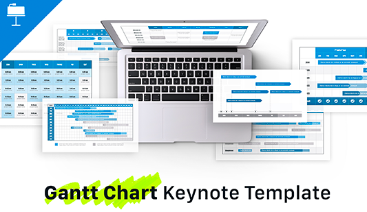 Gantt chart on MAC Keynote Template