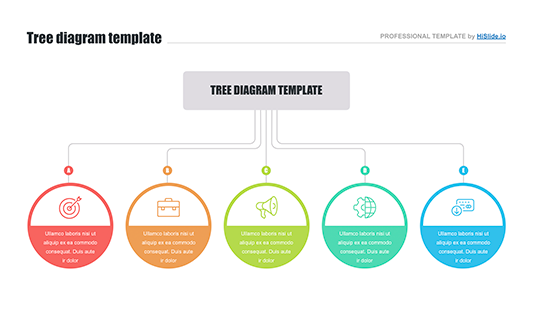 Tree Diagram Infographic For Powerpoint