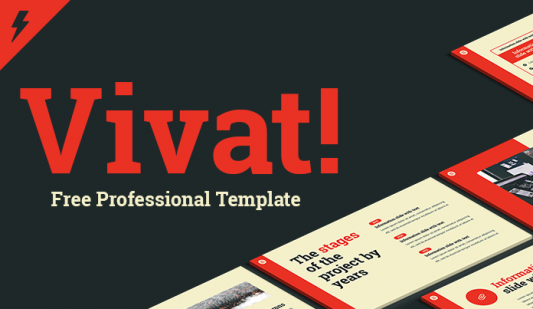 Vivat template for PowerPoint presentation Free