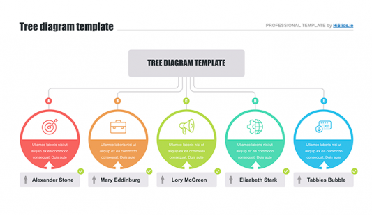 Powerpoint template tree diagram