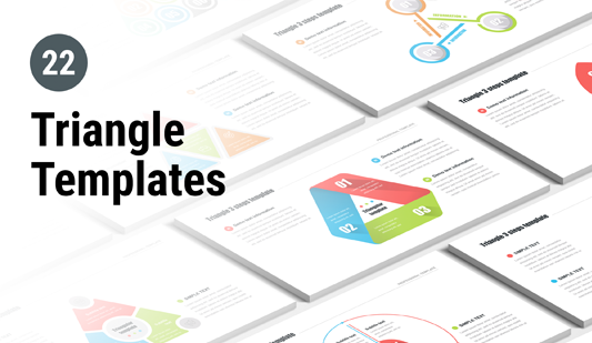 Triangle Keynote templates