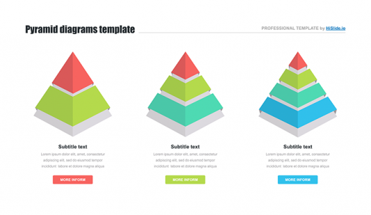 3d Pyramid Google slides template