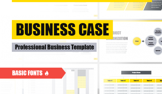 Business case template for Keynote