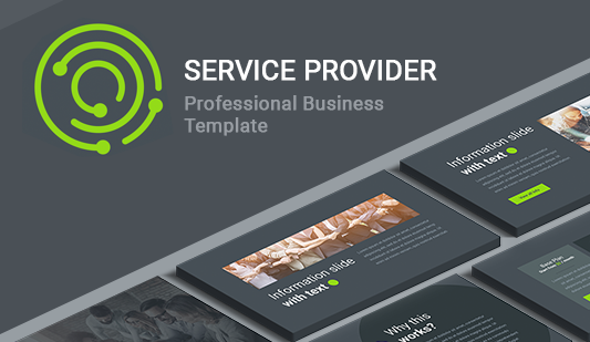 Presentation services Keynote template