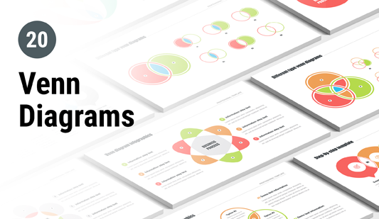 Venn diagram PowerPoint template pack
