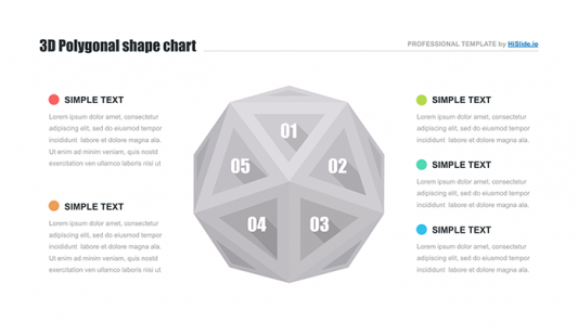 Polygonal shape Keynote template