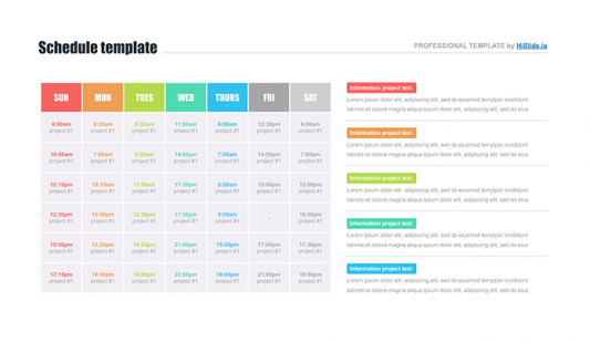 PowerPoint Schedule slide template