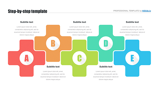 5 step process template Google slides