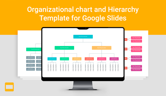 Google slides Org chart template
