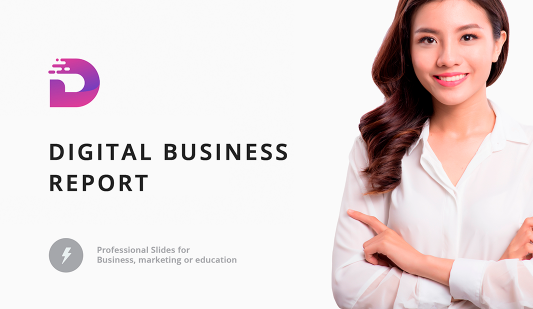 Digital annual report template PowerPoint