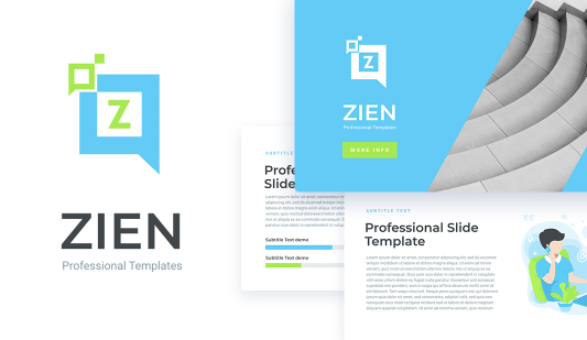 Zien animated Google slides template