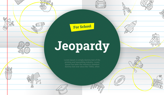 Google slides Jeopardy template