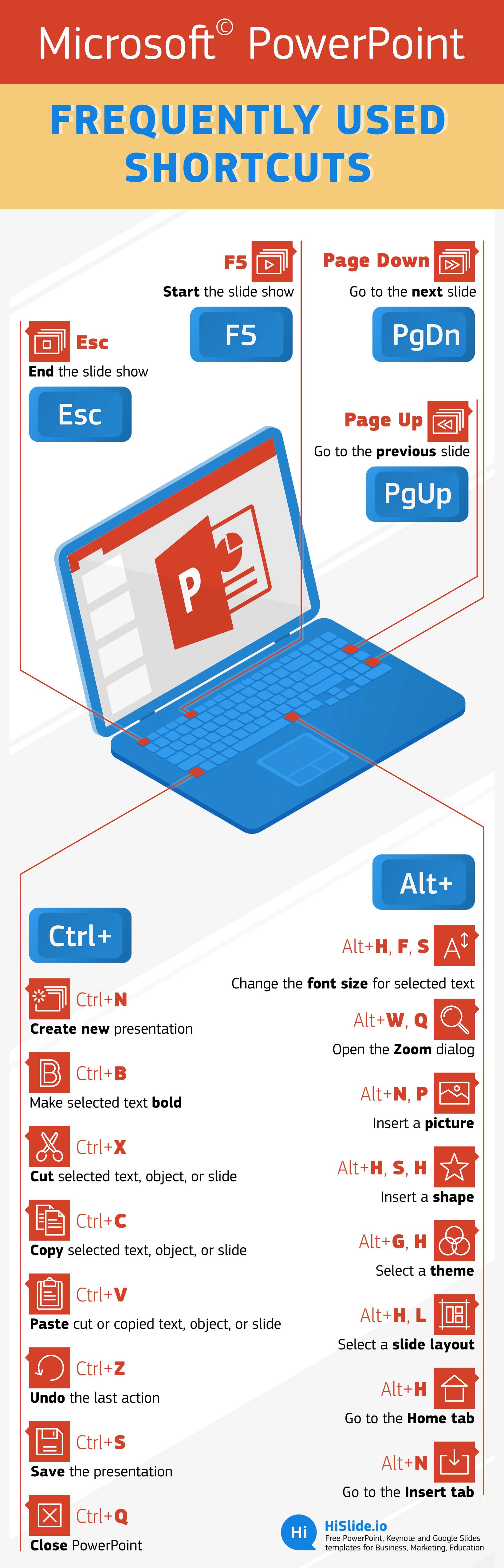 Infographic keyboard shortcut for PowerPoint