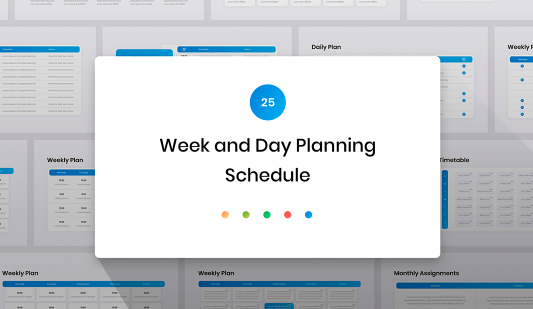 PowerPoint Schedule templates