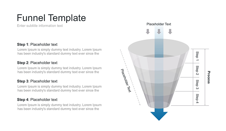 Sales funnel free template for PowerPOint, Keynote and Google Slides