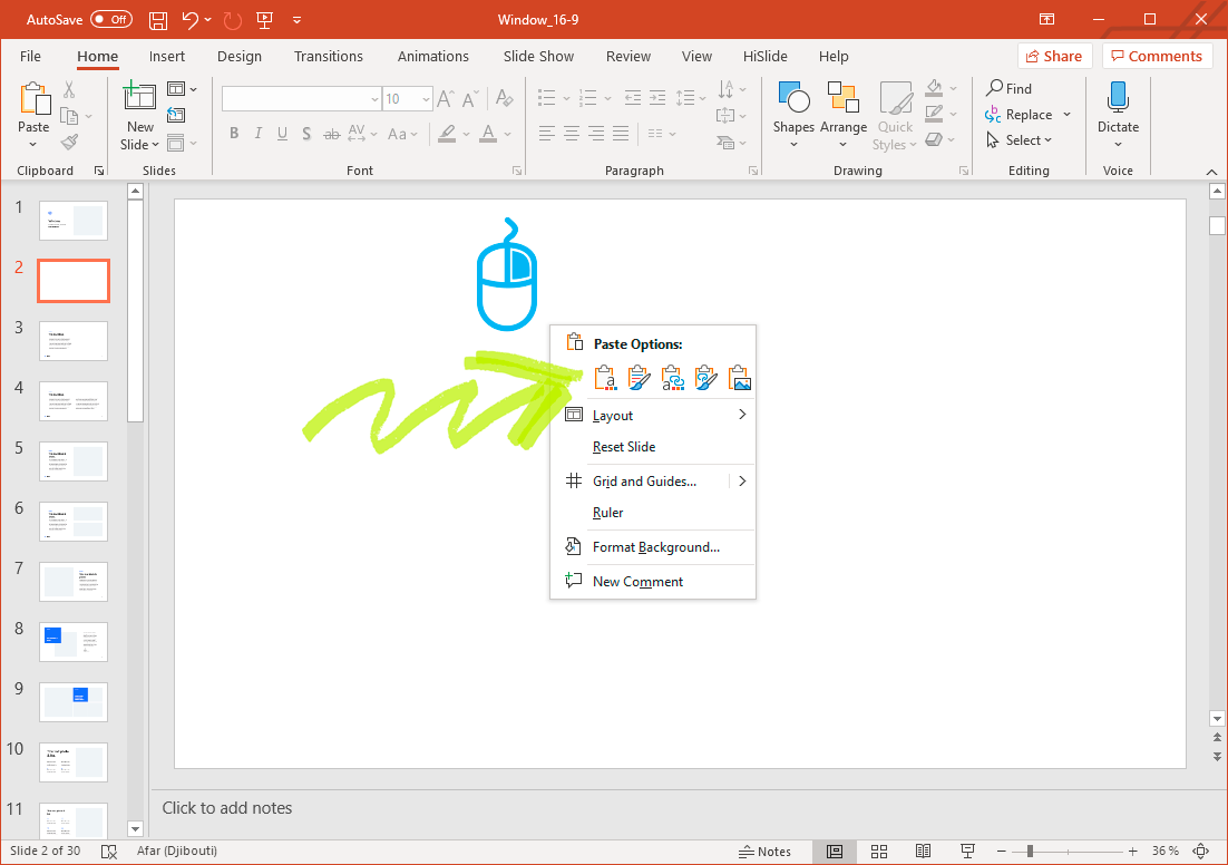 Insert graph on PowerPoint