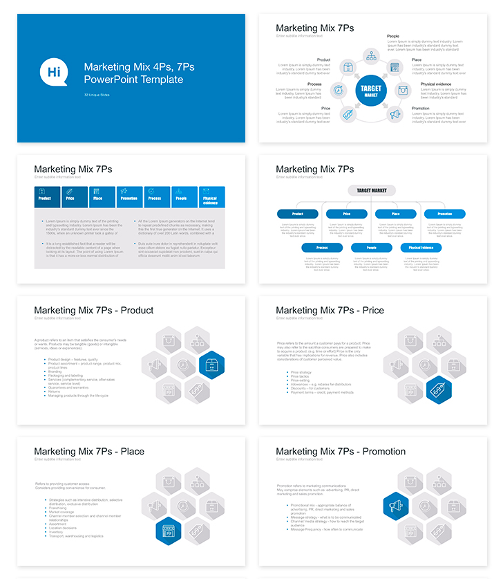 Demo: Marketing mix templates