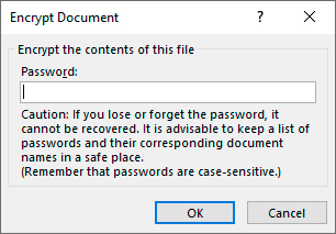 Figure 2: Enter the password into the text box and hit OK.