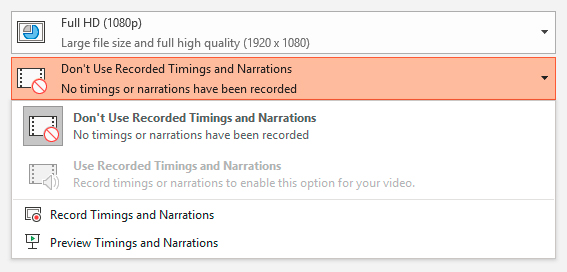 Choosing whether to use narrations.