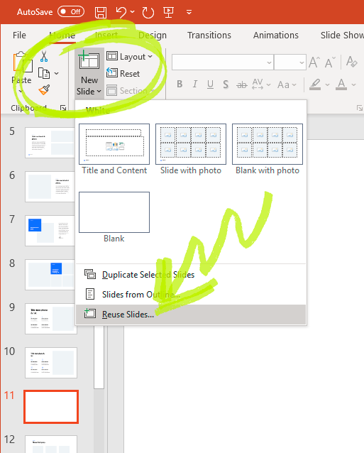 Make photo slides in PowerPoint