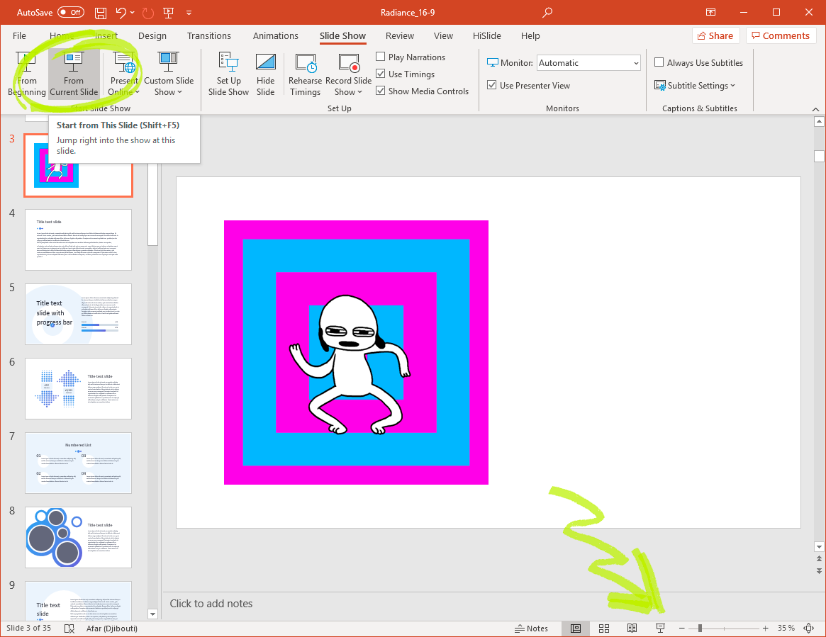 PowerPoint animations gif