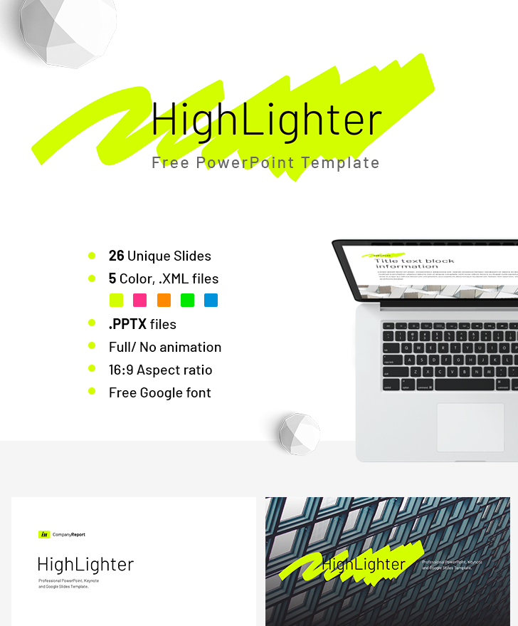 Company Report Highlighter PowerPoint