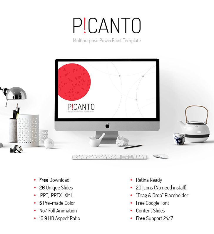 Picanto PPT template free download