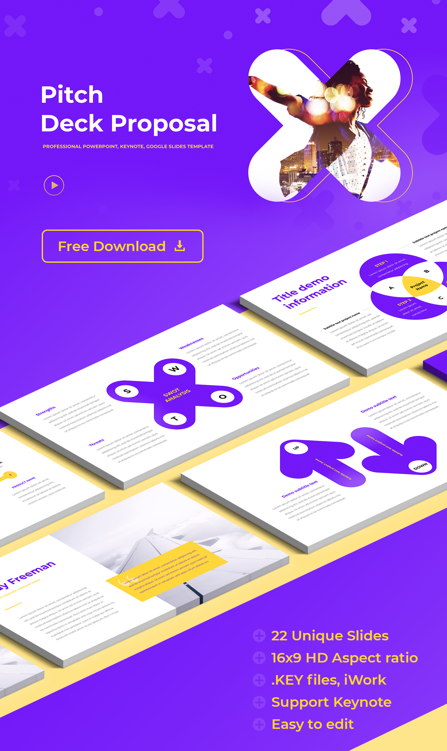 Pitch deck templates free Keynote template
