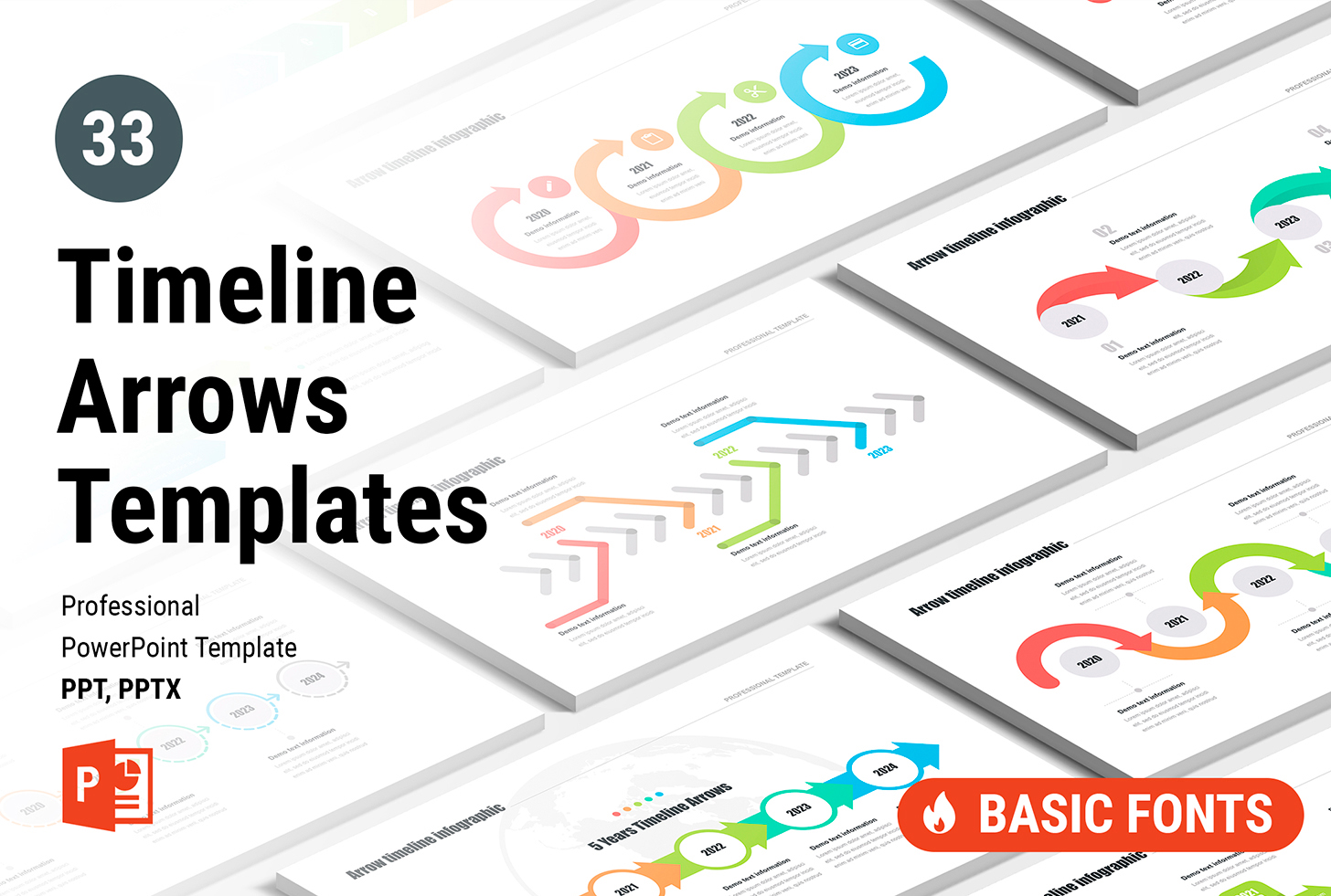 Timeline Arrow PowerPoint Templates