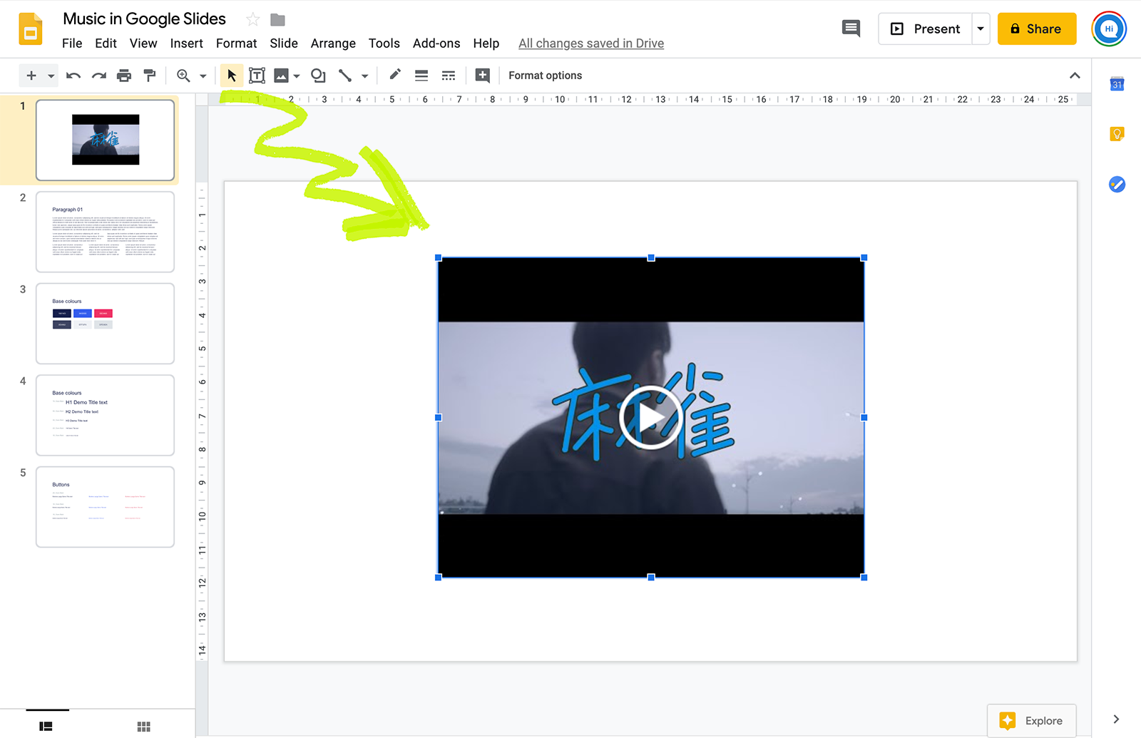Video Youtube to Google Slides