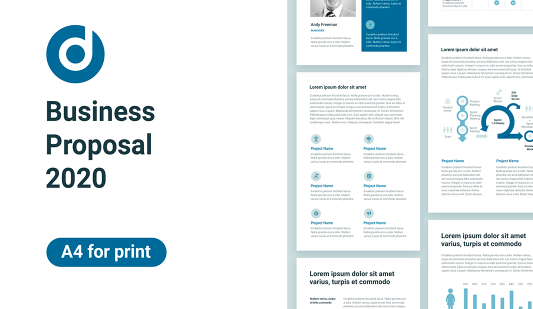 Business proposal Keynote A4 template