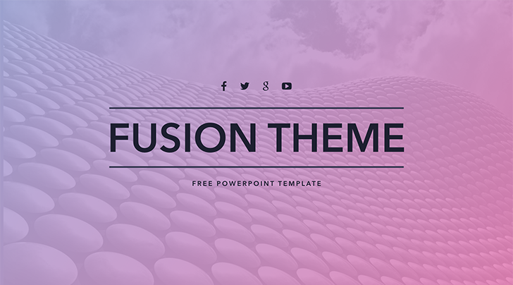 """Free PowerPoint template """"Fusion"""""""