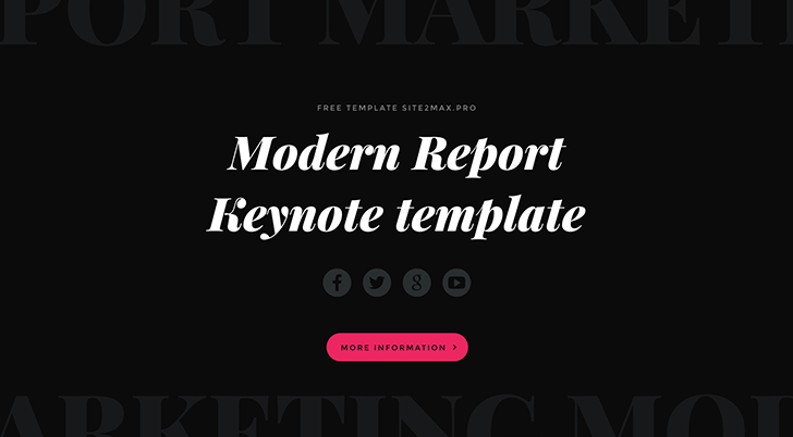 Modern Report free Keynote template