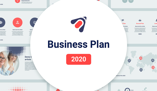 Google Slides Business Plan template 2020