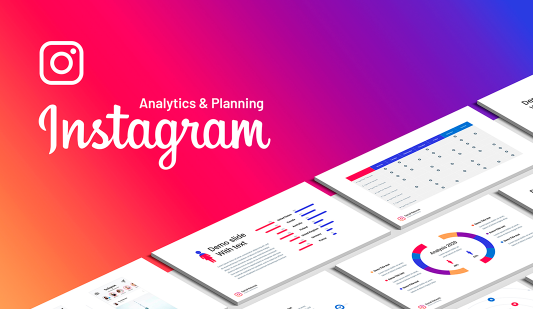 Instagram analysis Keynote template