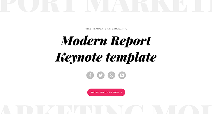"""Modern Report"" free key template"