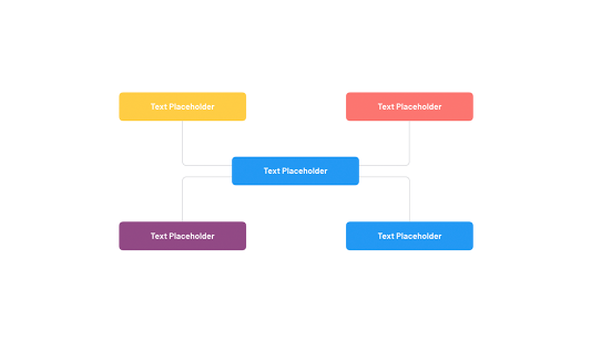 Template organizational chart Powerpoint