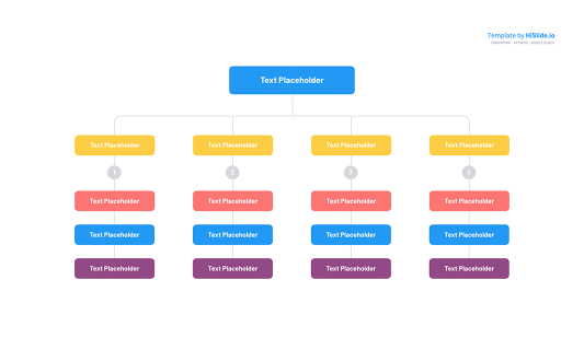 Org chart Google slides template