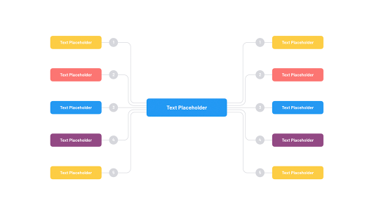 Org chart in Google presentation templates