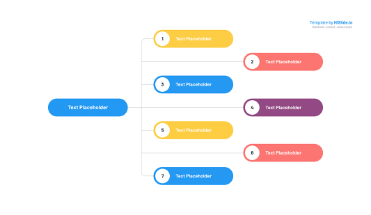 Free organizational chart template for Powerpoint