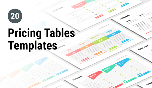 Pricing table Keynote template