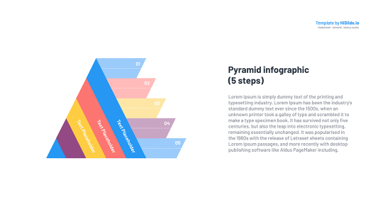 Template for Pyramid free Google Slides template