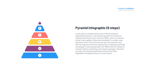 Pyramid with Steps Free Keynote template