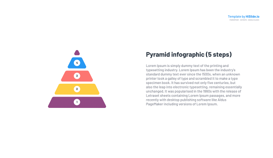 Pyramid Steps PowerPoint slide