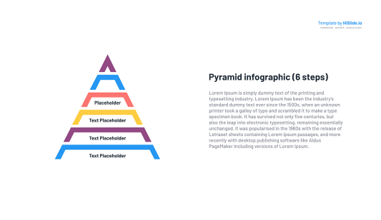 Pyramid layout template free Keynote templates