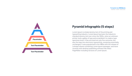 Hierarchy Pyramid template for Google Slides