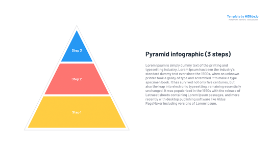 Free PowerPoint template Pyramid