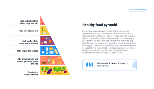 Food Pyramid diagram Keynote template