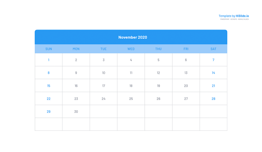 November 2020 Powerpoint Calendar template