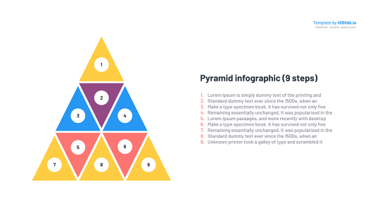 Pyramid diagram template for Keynote